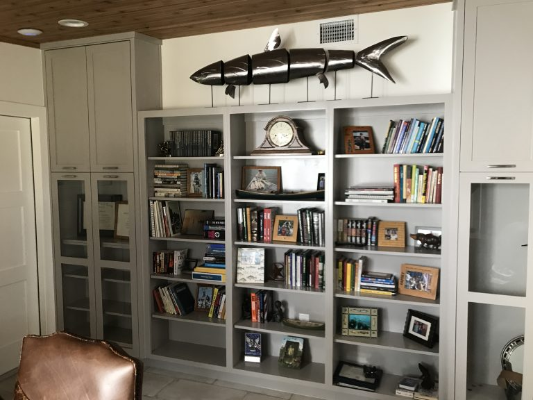 custom built shelving unit