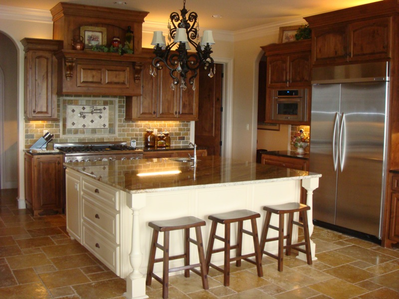 custom cabinets installed in kitchen